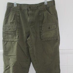 Cabela's Green Cargo Pants 34 X 30